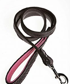 bison-elk-leather-lead-black-pink